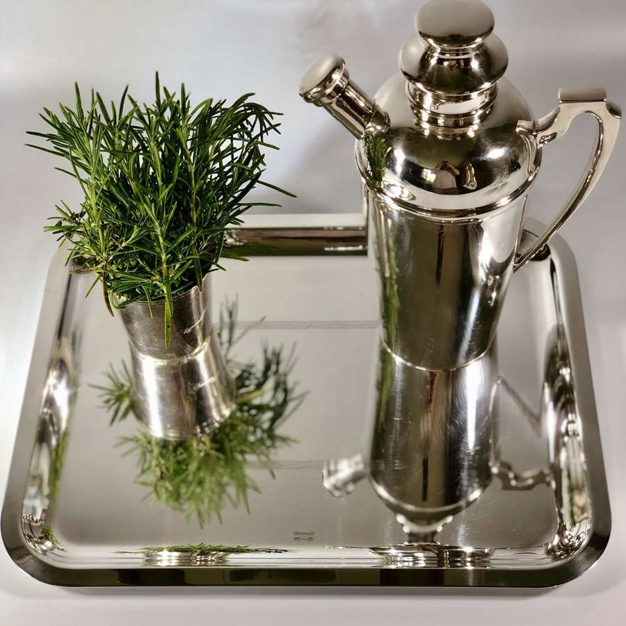 Christofle silver plated cocktail serving tray