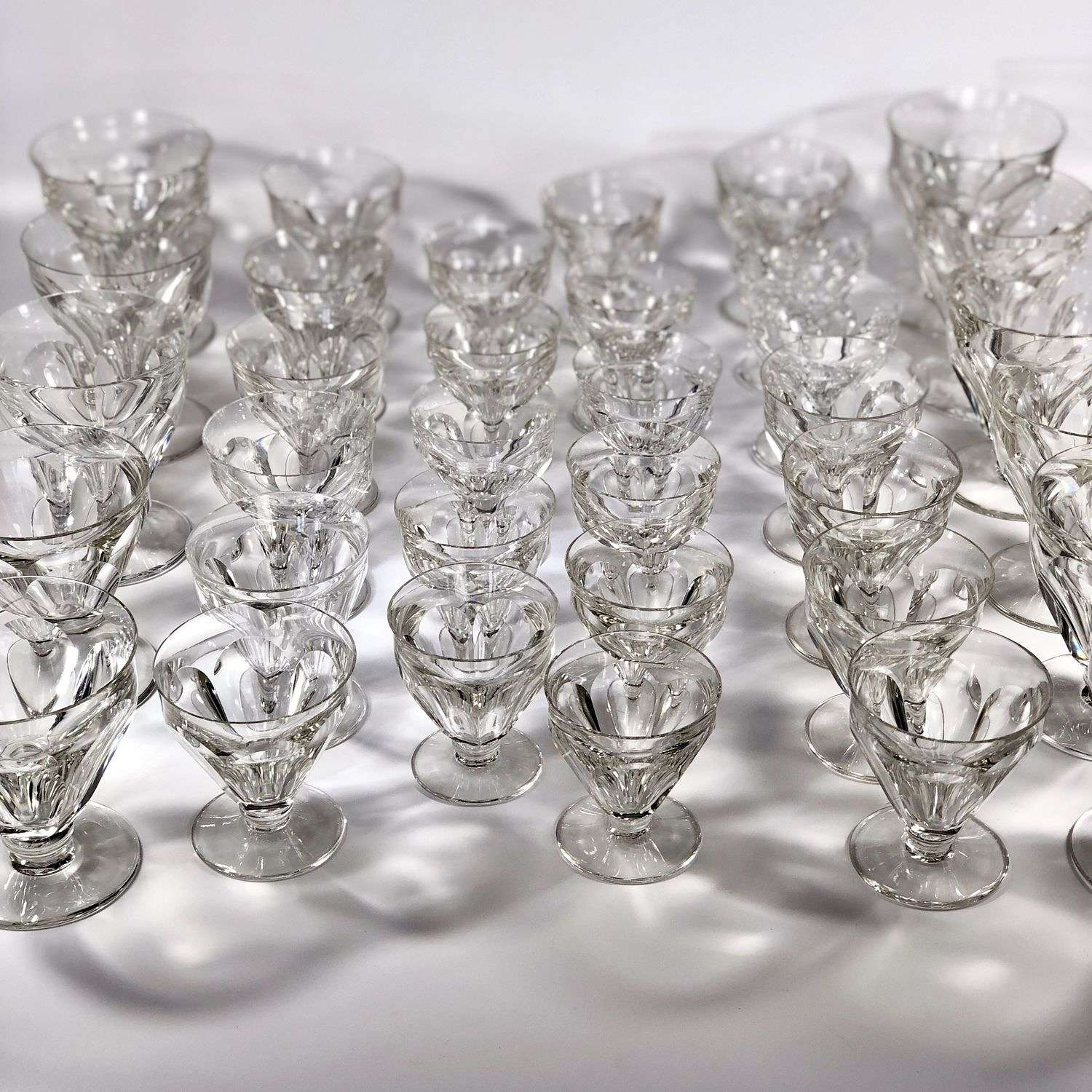 35 Vintage Baccarat crystal drinking glasses