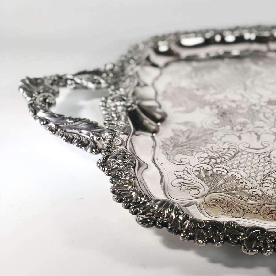 Sensational large Victorian twin handled serving tray