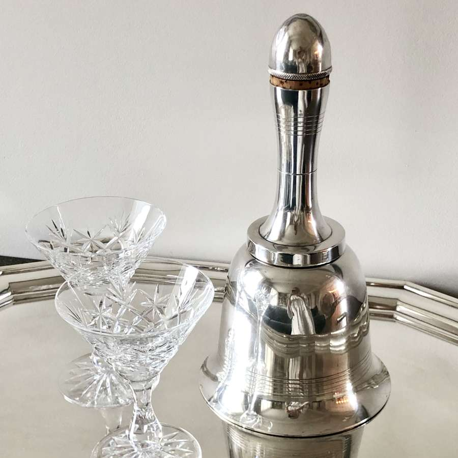 Iconic Asprey Art Deco Bell cocktail shaker