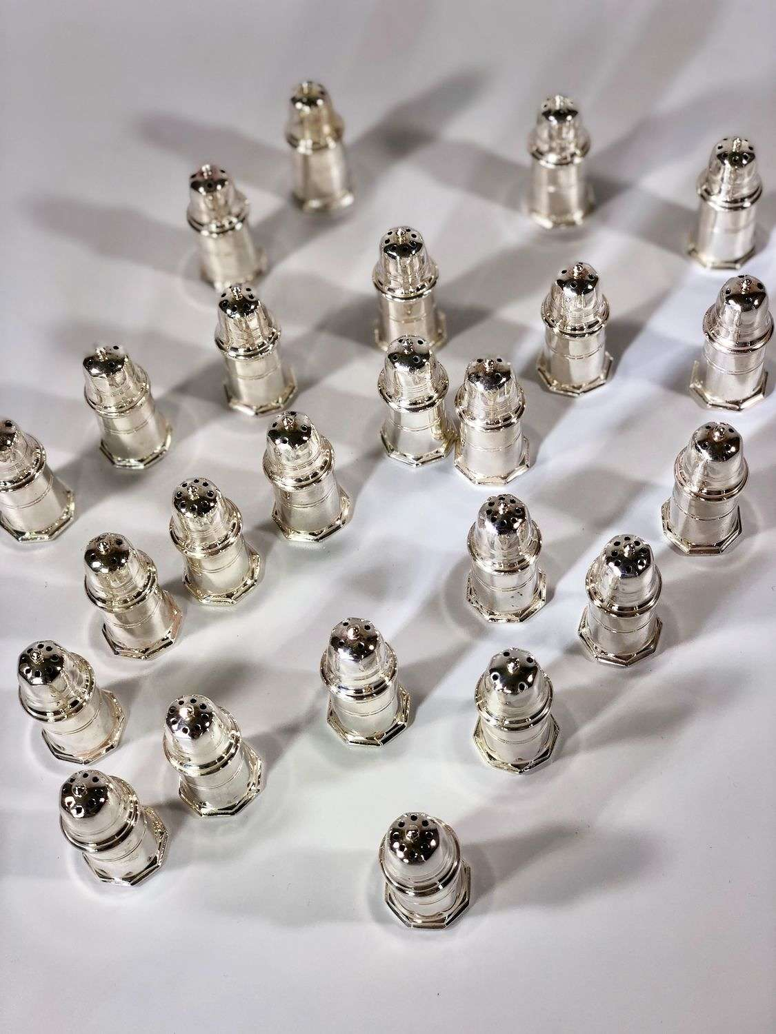24 individual Christofle salt and pepper shakers