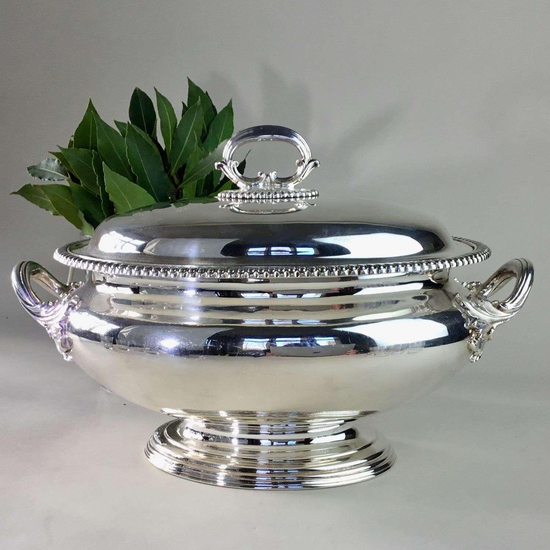 Elkington silver plated serving tureen Circa 1845