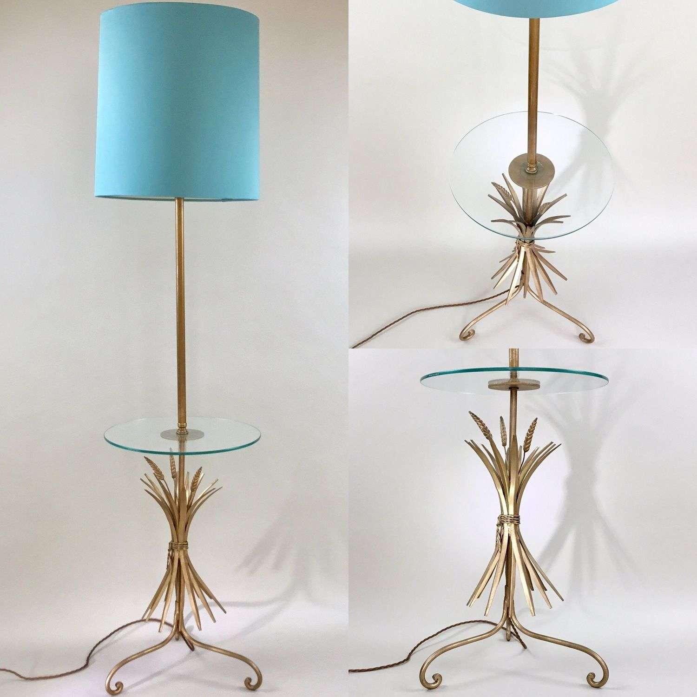 Mid Century wheatsheaf table floor lamp