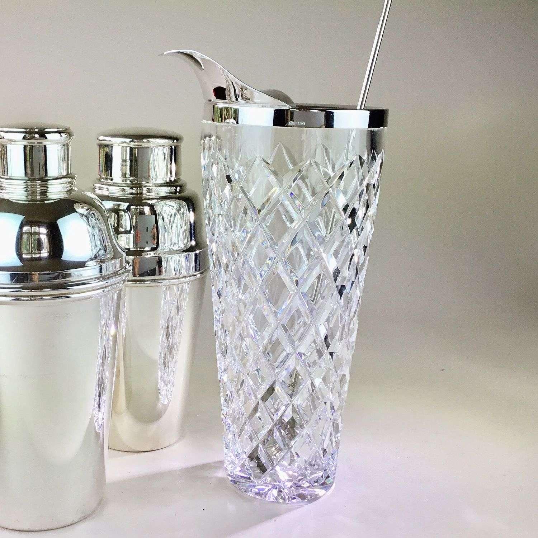 Heavy crystal cocktail mixing jug