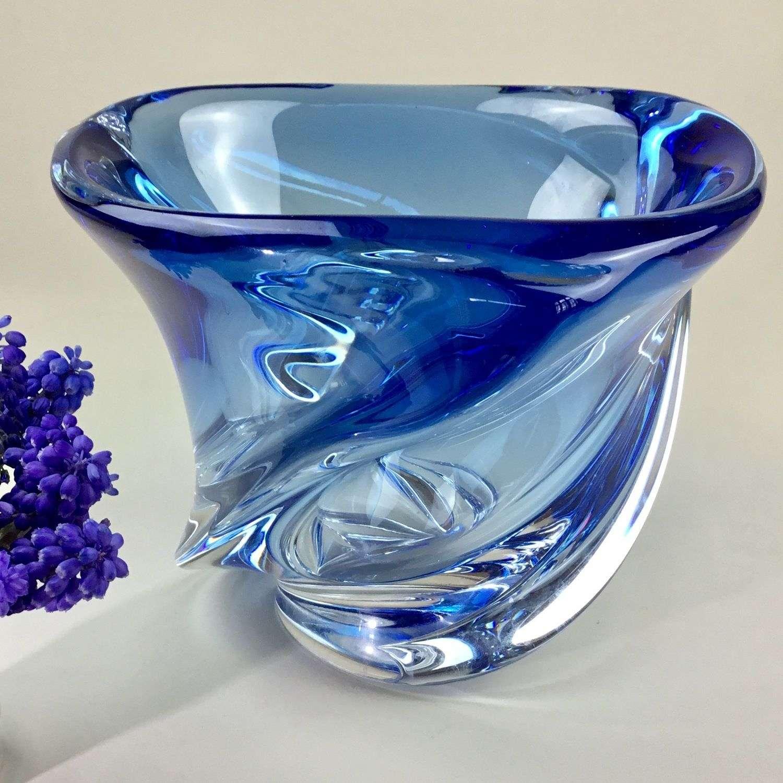 Val St Lambert crystal bowl 1950s