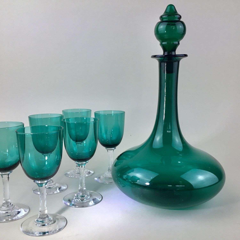 Beautiful Mell shaped decanter Circa 1850