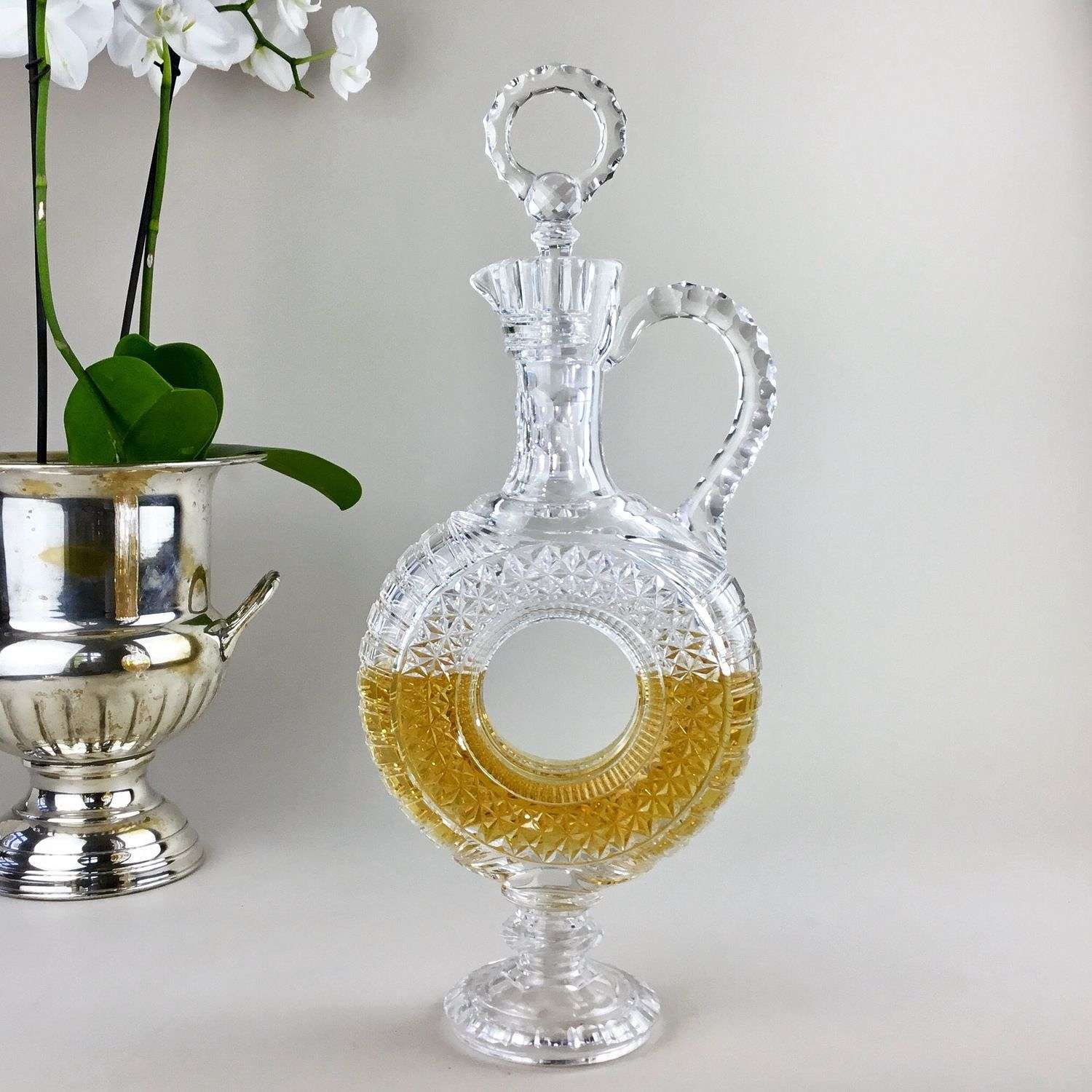 Antique cut glass French decanter