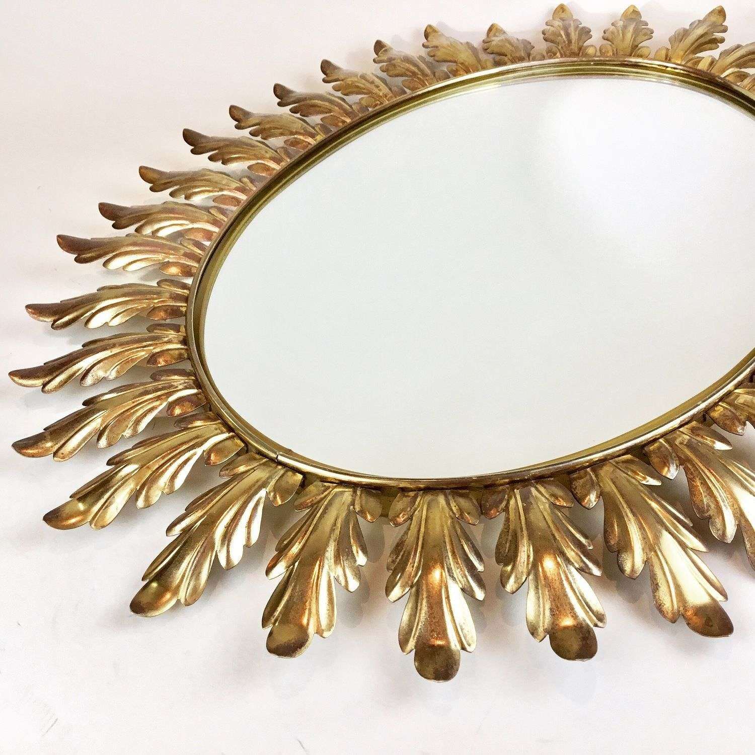 Large Spanish tole sunburst mirror