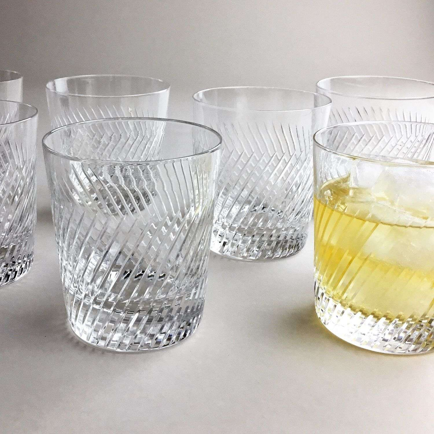 Fine French spiral tumblers