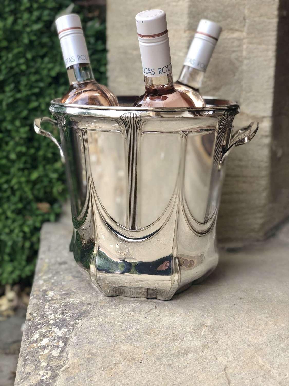 Art Nouveau Magnum wine champagne bucket cooler