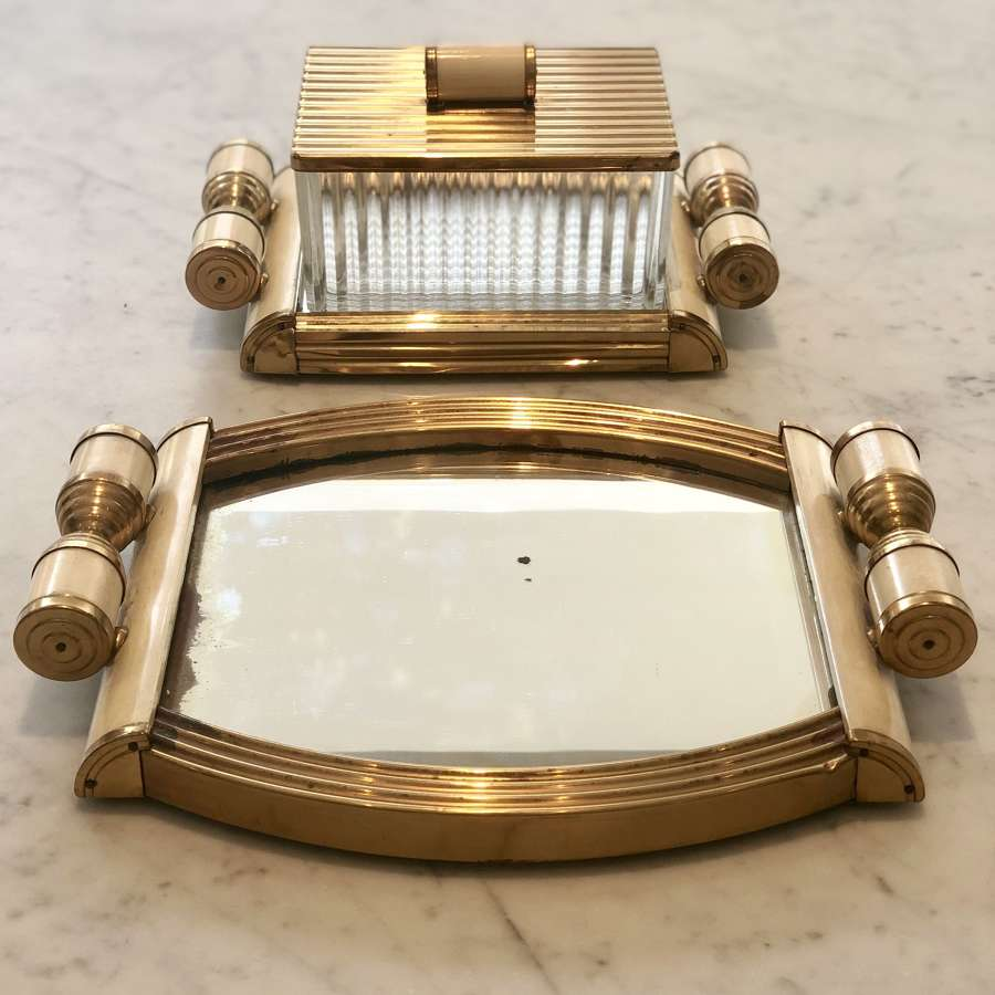 Mid 20th Century Italian Mirrored dressing table set