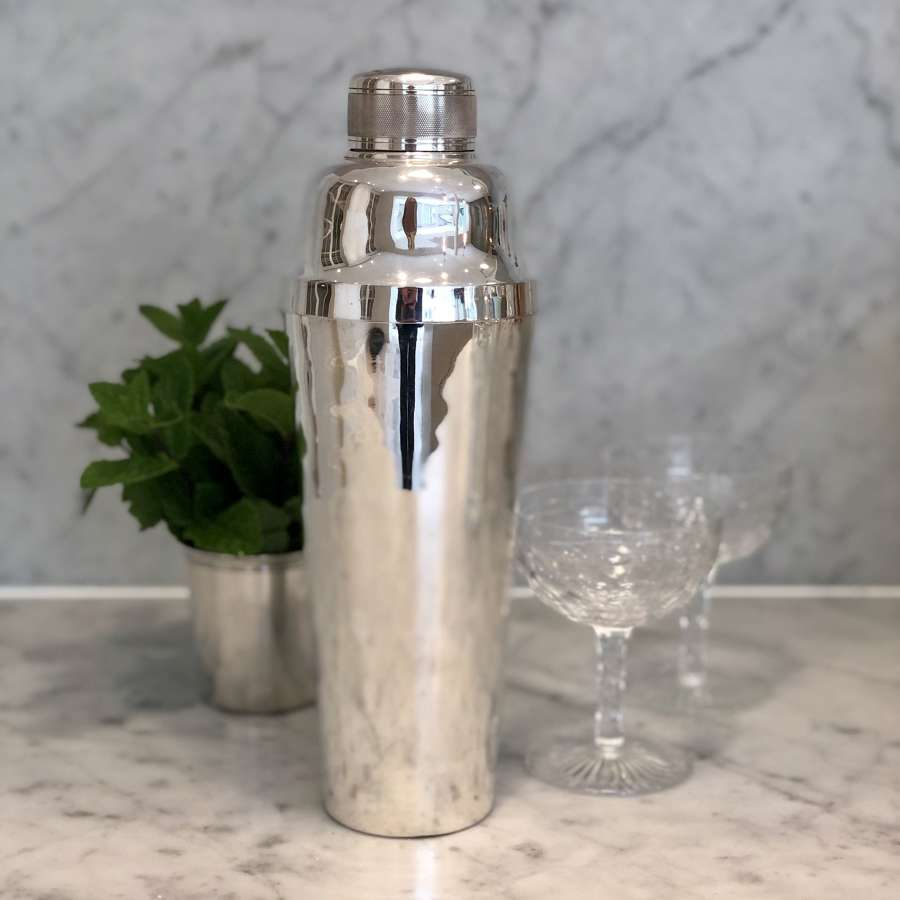 Extra large vintage silver plated cocktail shaker