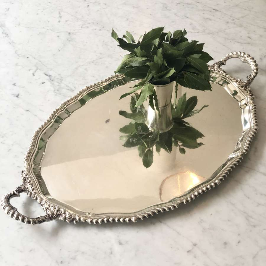 A superb Mappin & Webb twin handled serving tray