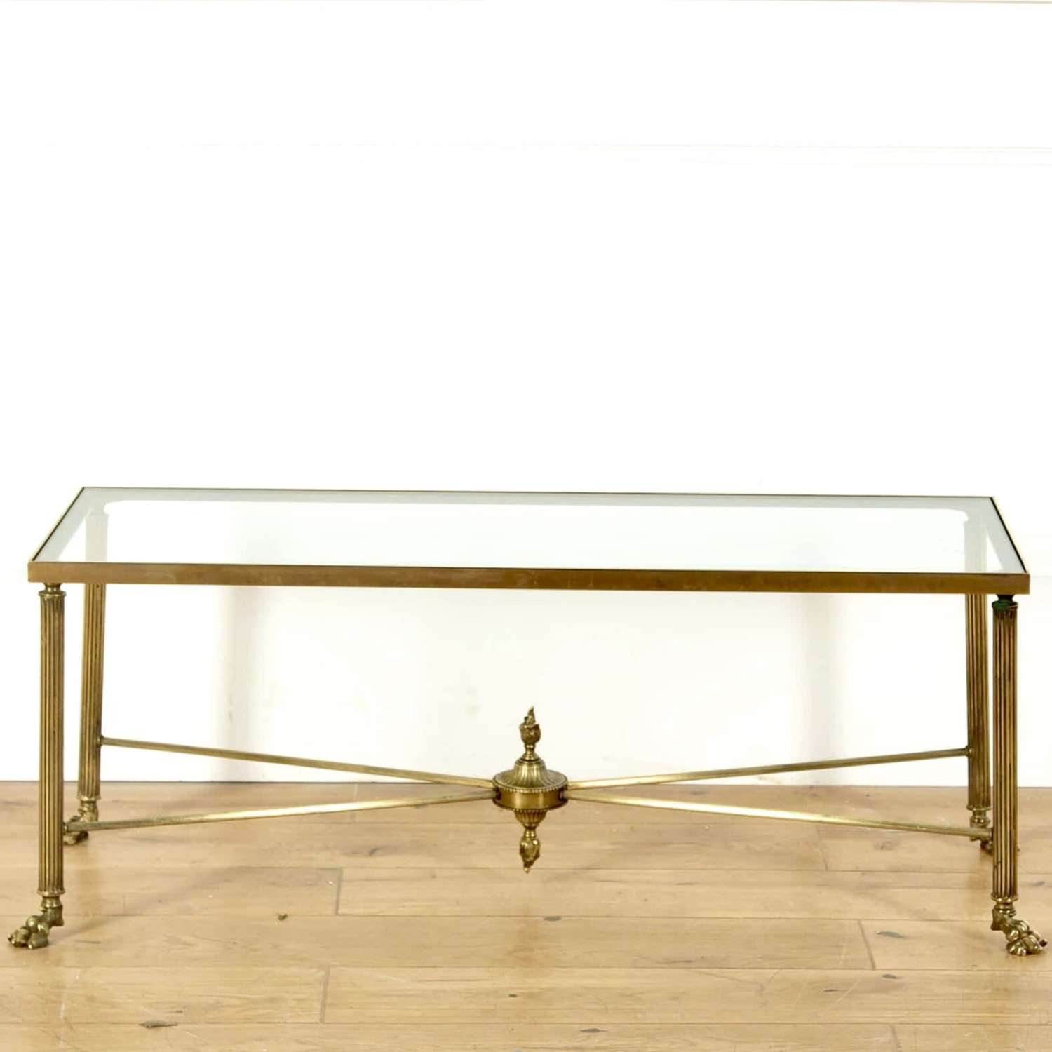 Maison Bagues style lions paw brass coffee table