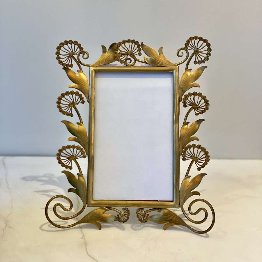 Exquisite Aesthetic Movement ormolu dandelion relief frame