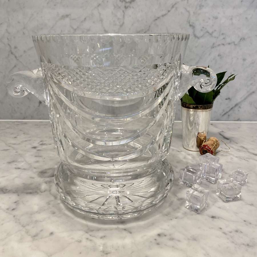 Limited edition French crystal champagne ice bucket wine cooler