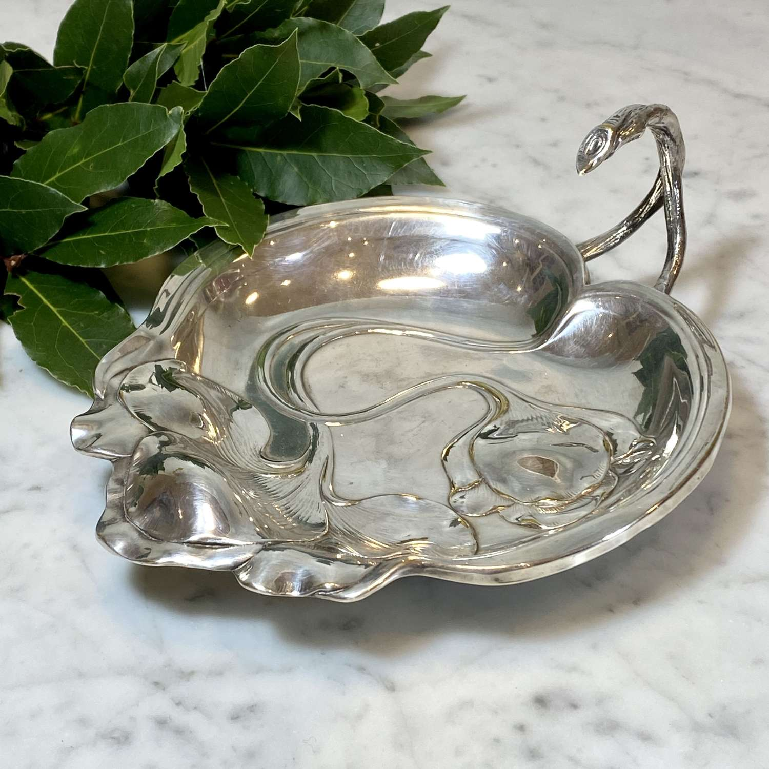 WMF silver plated Secessionist lily pad dish