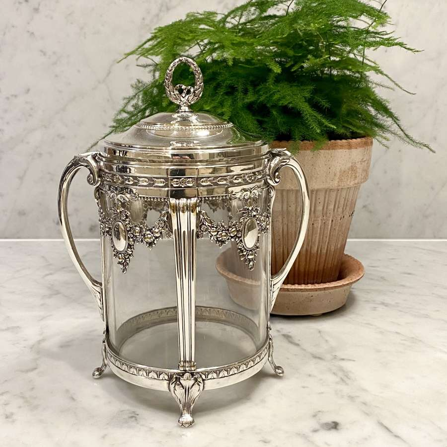 Early WMF silver plated biscuit barrel or ice bucket