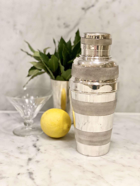 Art Deco silver plated lemon squeezer cocktail shaker