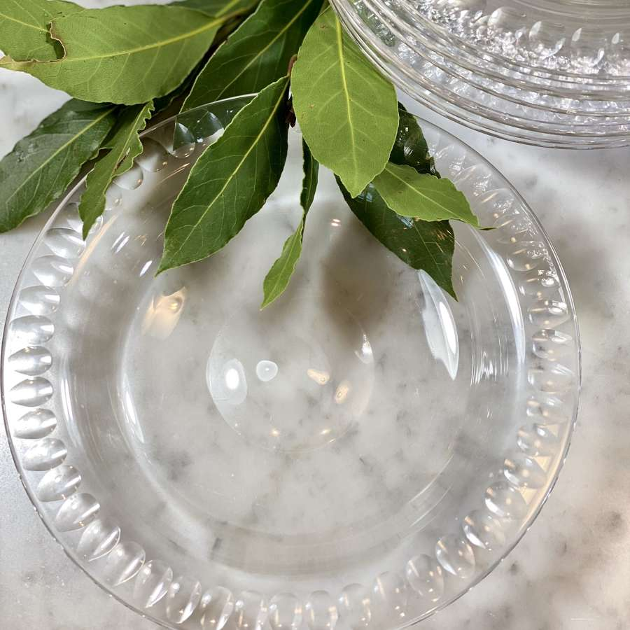 A superb set of 10 Victorian crystal dessert or cheese plates