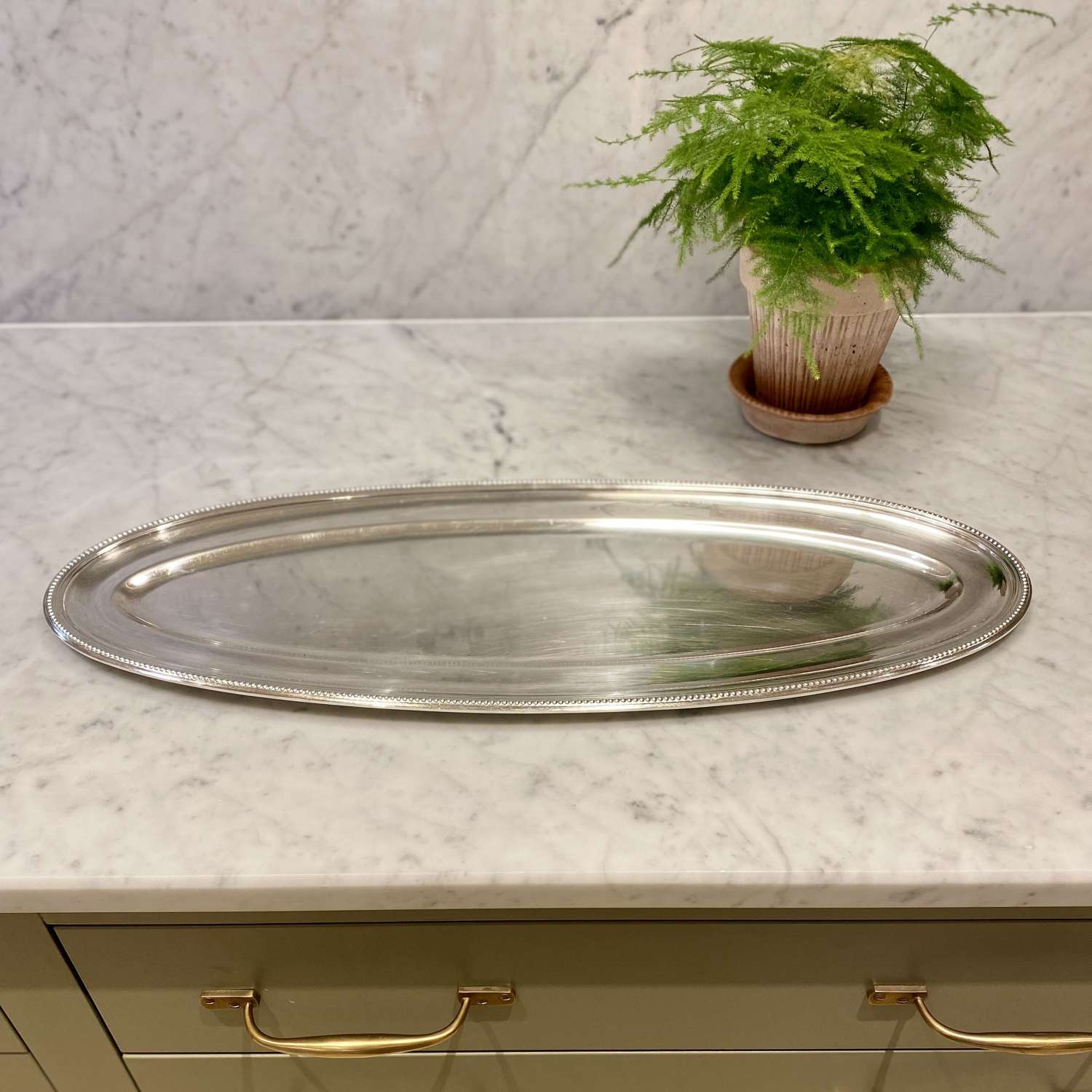 Giant Christofle oval silver plated serving platter