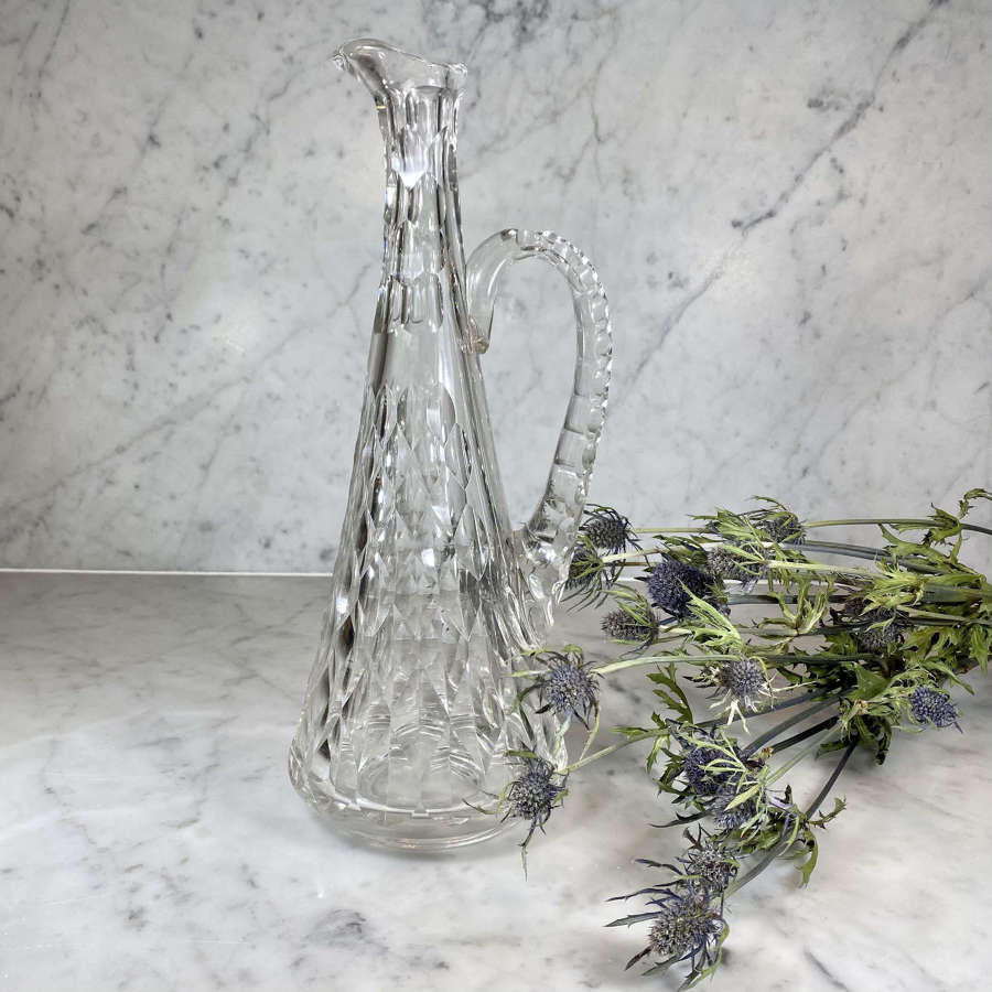 Art Nouveau Baccarat crystal carafe decanter