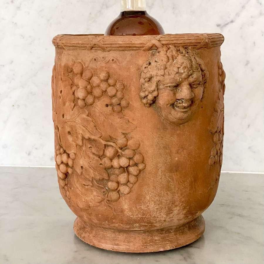 Georgian terracotta Baccus wine cooler by Davenport