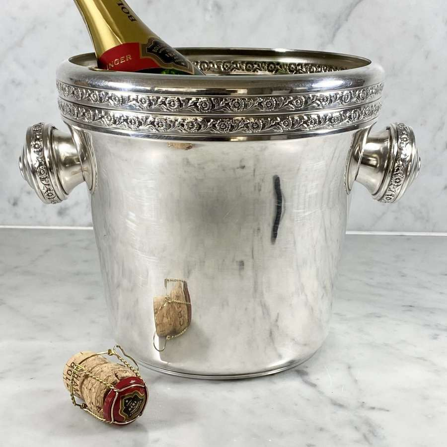 French flower embossed champagne wine bucket cooler