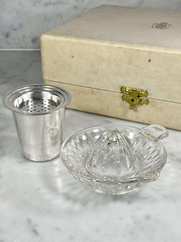 Christofle Art Deco citrus squeeze and serve bar boxed set