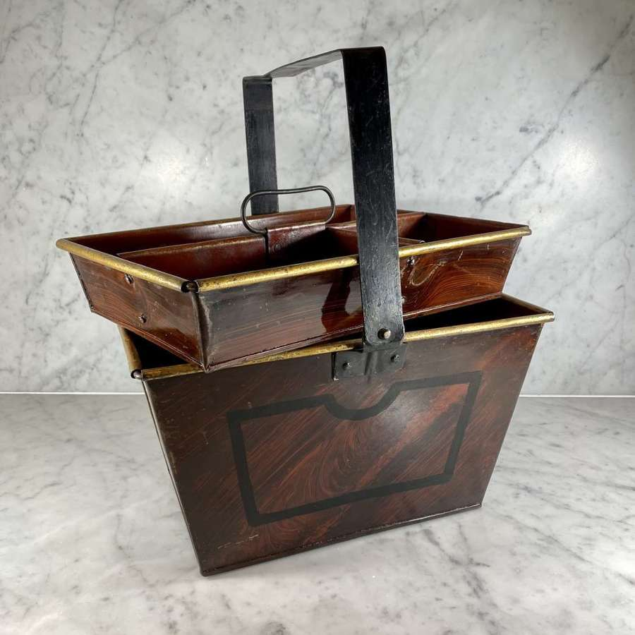 Antique Country House toleware Housemaids trug