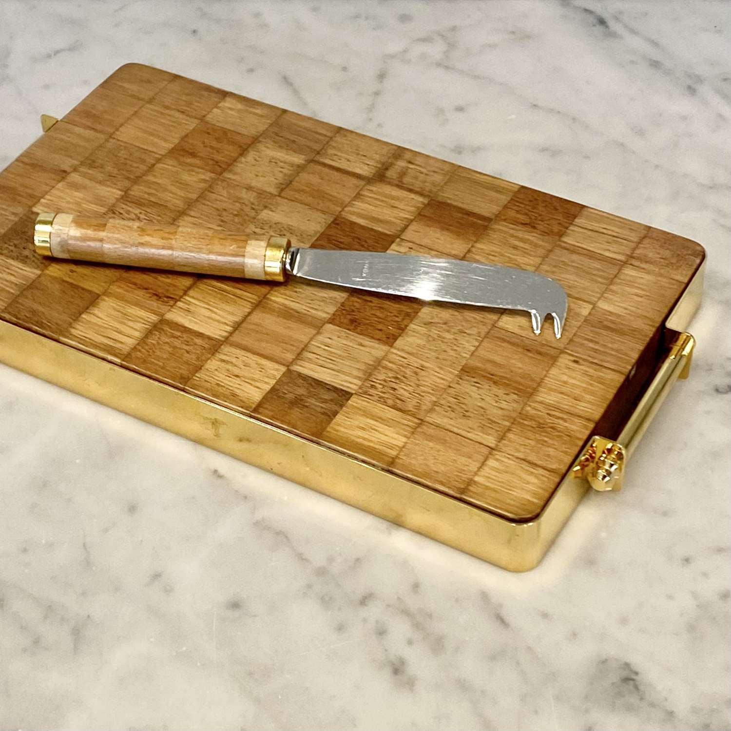 1970s wood and gilt cheeseboard by Harrods London