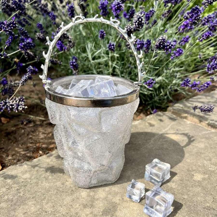 Iceberg ice bucket & coral design swing handle