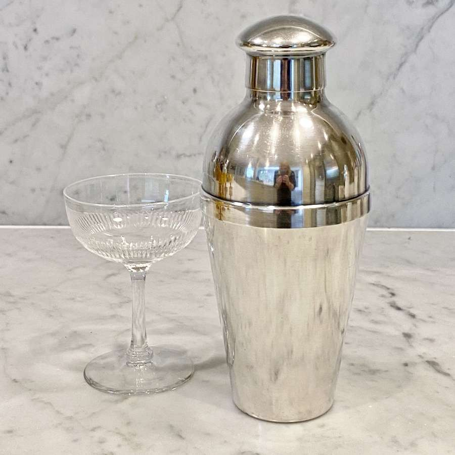 Wiskemann Art Deco silver plated cocktail shaker