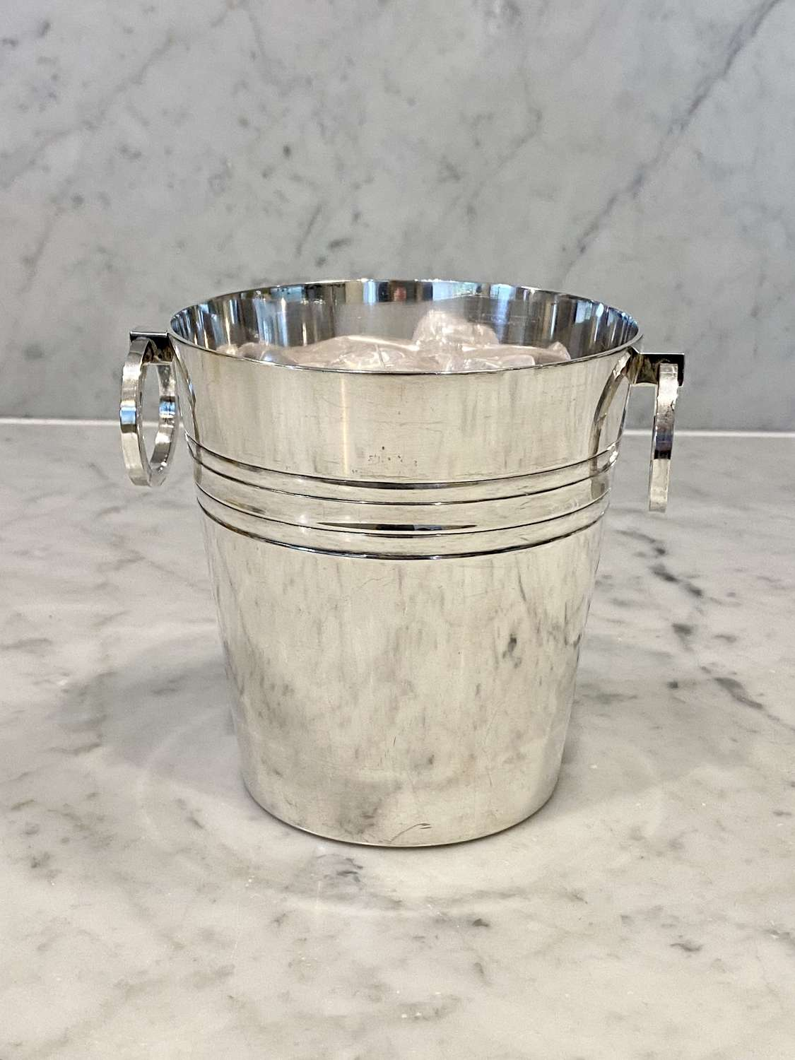 Wiskemann silver plated ring handle ice bucket