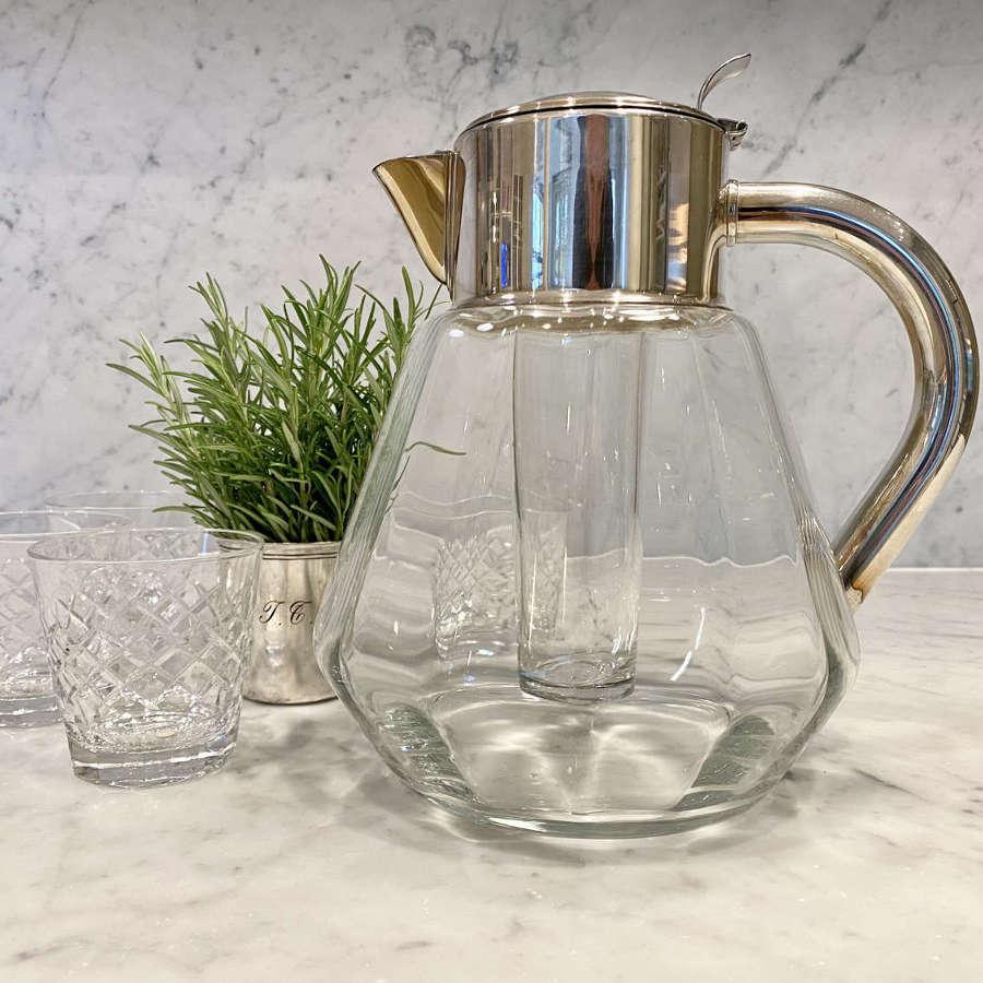 Mid Century silver plated lemonade or cocktail jug